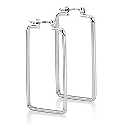 J by Jasper Conran - Rectangle hoop earring