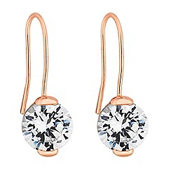 J by Jasper Conran - Designer rose gold crystal drop earrings