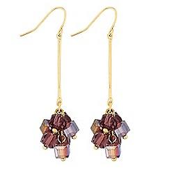 J by Jasper Conran - Designer purple beaded drop earrings