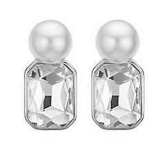 J by Jasper Conran - Designer crystal and pearl stud earrings