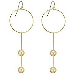 J by Jasper Conran - Designer gold circle and orb drop earrings