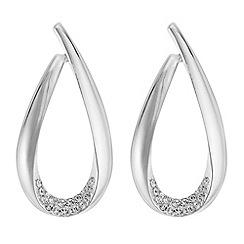 J by Jasper Conran - Designer pave open teardrop earrings