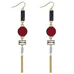 J by Jasper Conran - Designer multi crystal drop earrings