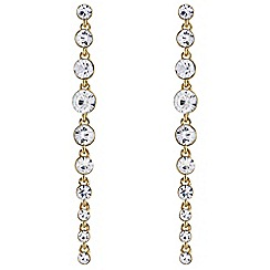 J by Jasper Conran - Designer graduated crystal drop earrings
