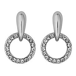 J by Jasper Conran - Designer pave circle stud earrings