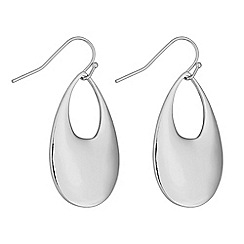J by Jasper Conran - Designer silver open peardrop earrings