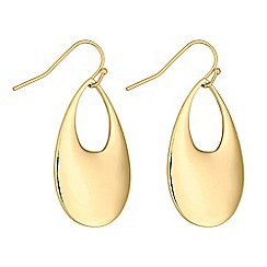 J by Jasper Conran - Designer gold open peardrop earrings