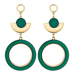 J by Jasper Conran - Designer green circle drop earrings
