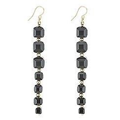 J by Jasper Conran - Designer square facet bead earrings