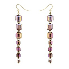 J by Jasper Conran - Designer square facet bead earrings