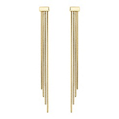 J by Jasper Conran - Gold chain drop earrings