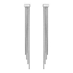 J by Jasper Conran - Silver chain drop earrings