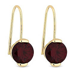J by Jasper Conran - Red crystal drop earrings