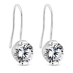 J by Jasper Conran - Silver crystal drop earrings