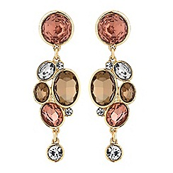 J by Jasper Conran - Designer crystal circle cluster earrings