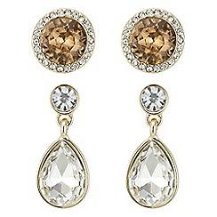 J by Jasper Conran - Designer pave crystal earrings set
