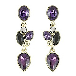 J by Jasper Conran - Designer purple crystal multi stone earrings