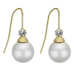 J by Jasper Conran - Designer pearl and crystal drop earrings