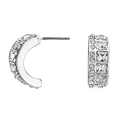 J by Jasper Conran - Designer crystal half hoop earrings