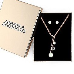 J by Jasper Conran - Designer rose gold crystal jewellery set