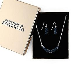 J by Jasper Conran - Crystal circle cluster jewellery set in gift box