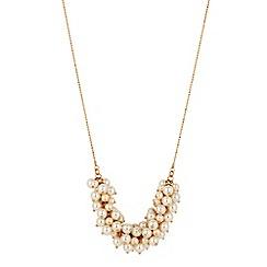J by Jasper Conran - Mini cream pearl cluster long necklace