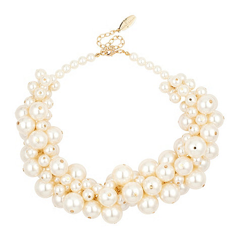 J by Jasper Conran - Statement cream pearl bubble necklace