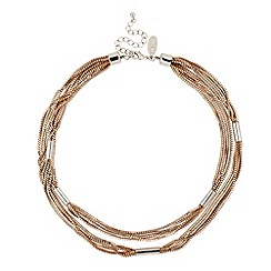 J by Jasper Conran - Multi gold box chain and tube necklace