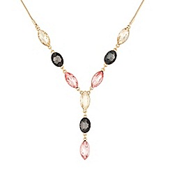 J by Jasper Conran - Designer glass stone teardrop necklace