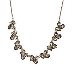 J by Jasper Conran - Designer gold crystal triple cluster necklace