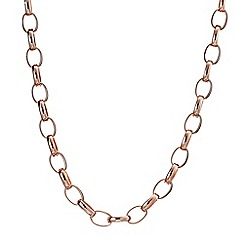 J by Jasper Conran - Designer rose gold oval link necklace