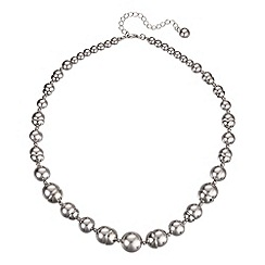 J by Jasper Conran - Designer silver capped grey pearl necklace