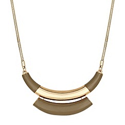 J by Jasper Conran - Designer enamel gold bar necklace