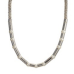 J by Jasper Conran - Designer pearl and gold tube necklace