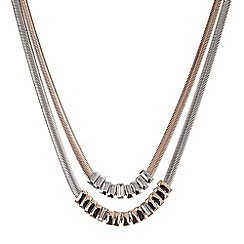 J by Jasper Conran - Designer double row tonal snake chain necklace