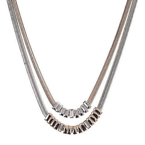 J by Jasper Conran - Designer double row tonal snake chain necklace