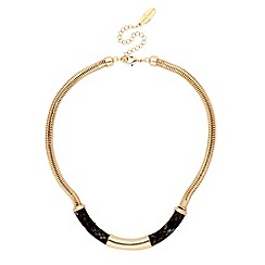 J by Jasper Conran - Designer snake print and gold bar necklace