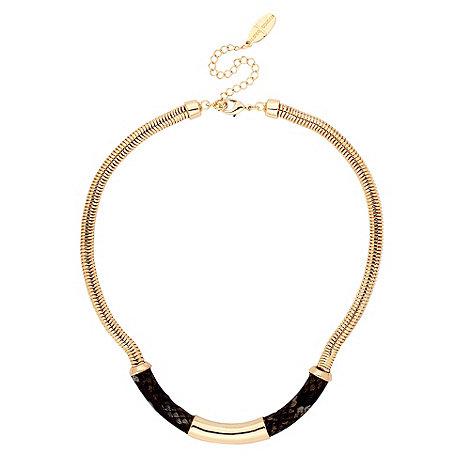 J by Jasper Conran - Designer snake print and gold bar necklace