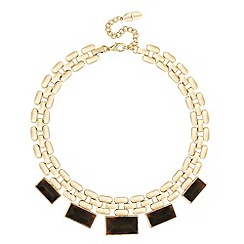 J by Jasper Conran - Designer tortoiseshell effect panelled necklace
