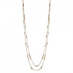 J by Jasper Conran - Designer double row mini bead long necklace