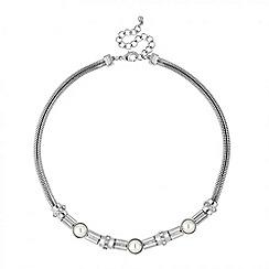 J by Jasper Conran - Designer pearl and crystal link necklace