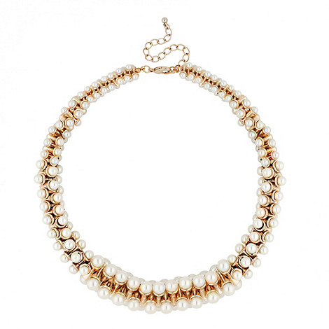J by Jasper Conran - Designer cream pearl cluster necklace