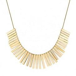 J by Jasper Conran - Designer polished gold stick necklace