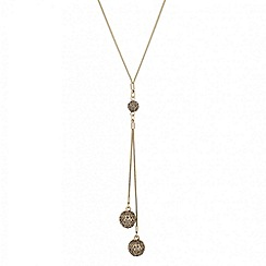 J by Jasper Conran - Designer long crystal ball lariat necklace