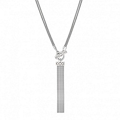 J by Jasper Conran - Designer pearl and tassel t-bar drop necklace