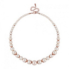 J by Jasper Conran - Designer rose gold capped pearl necklace