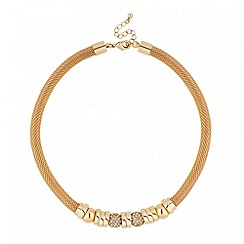 J by Jasper Conran - Designer crystal ball and gold disc necklace