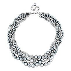 J by Jasper Conran - Designer grey twisted pearl chain necklace