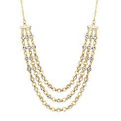 J by Jasper Conran - Designer crystal link multi row necklace