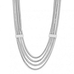 J by Jasper Conran - Designer multirow snake chain necklace